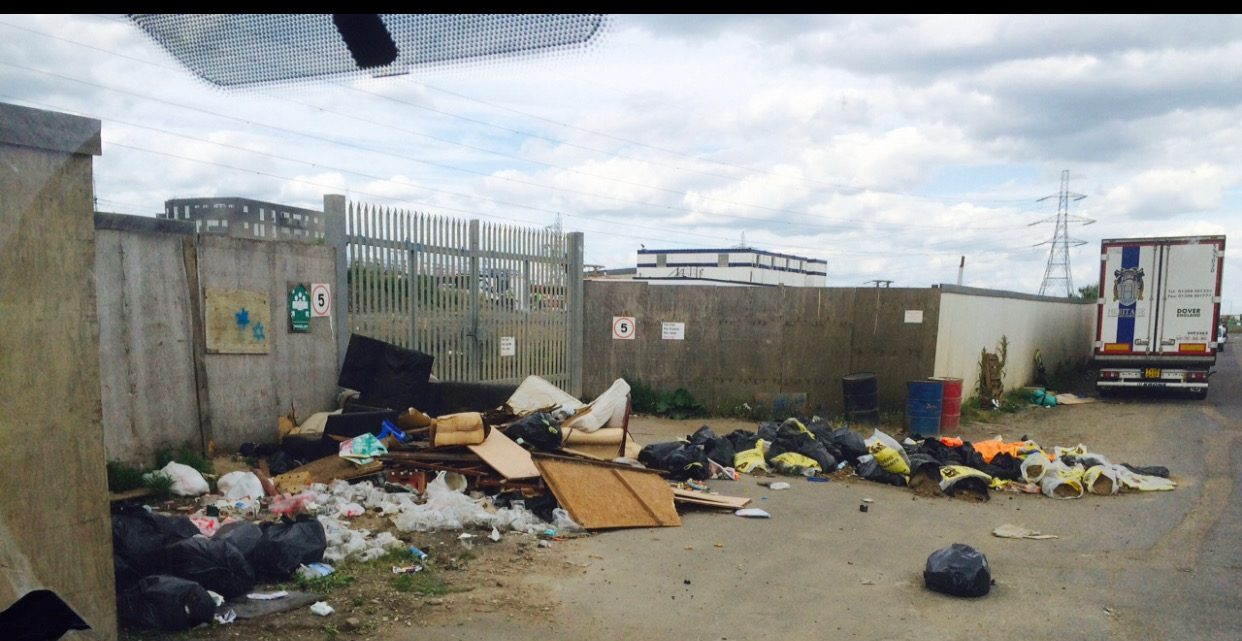 fly tip site