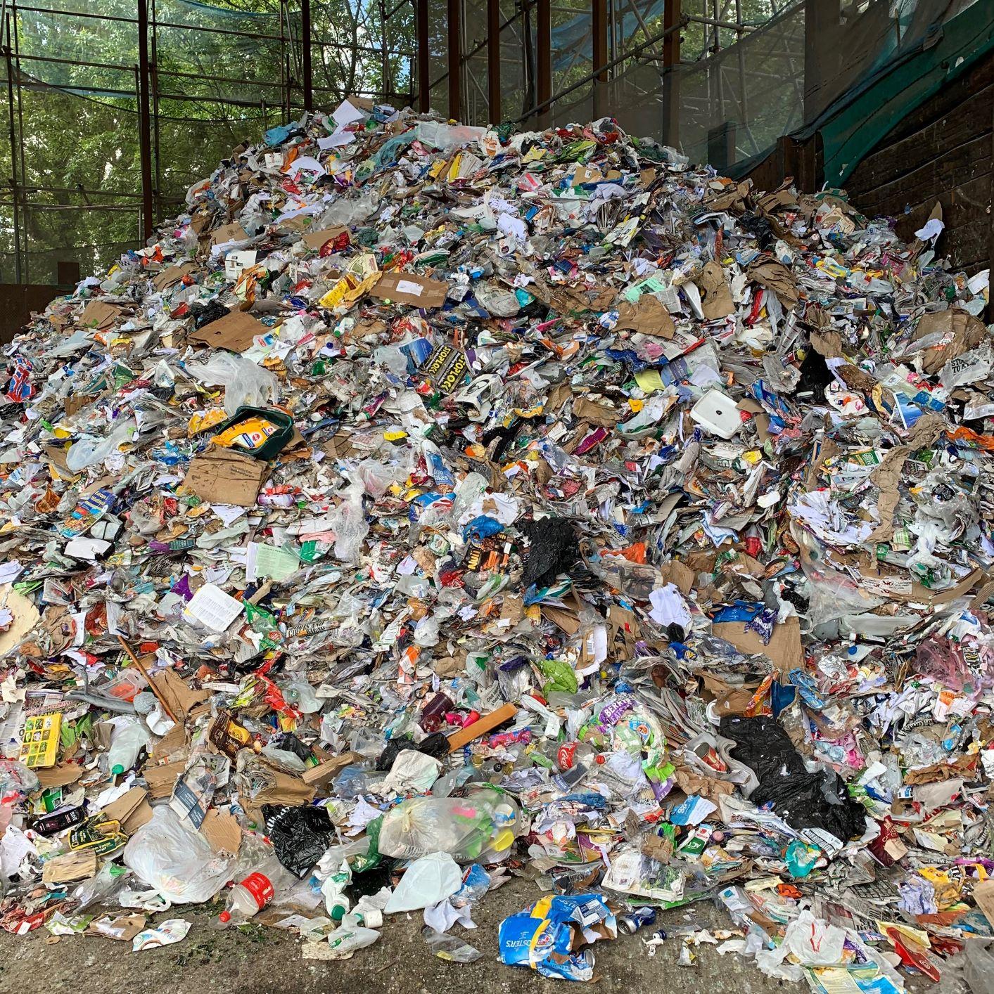 Co-Mingled Waste Pile