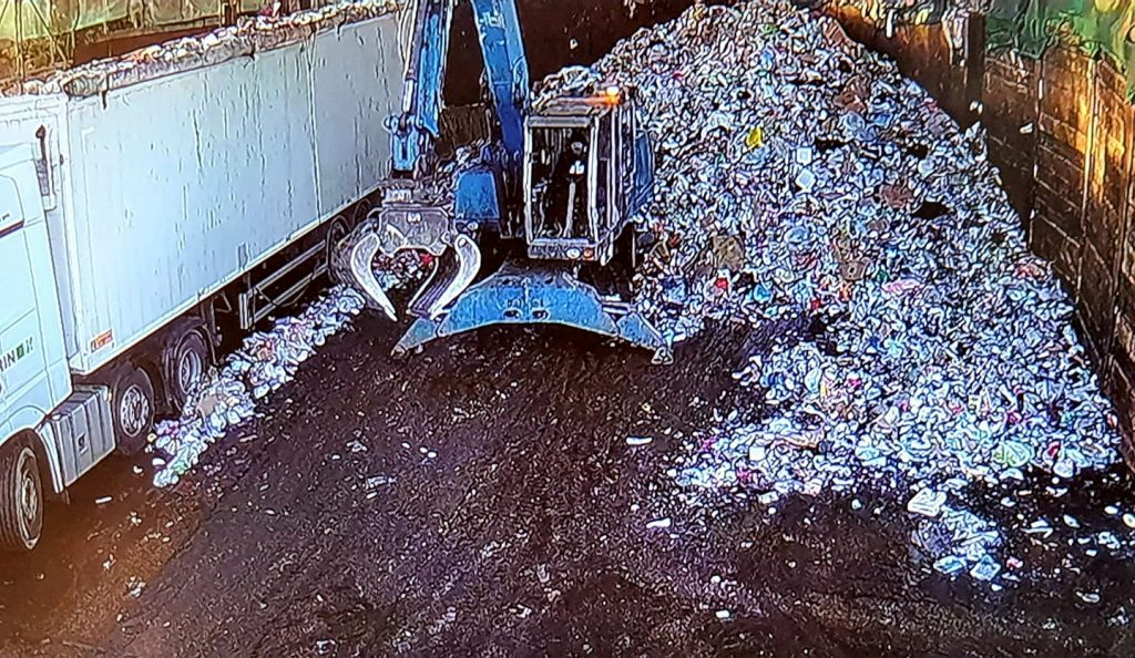Waste recycling after treatment, mixed plastics